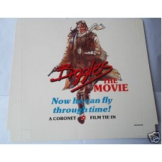 Biggles The Movie Display Card Coronet Film Tie In, W.E. Johns, 1986 as new