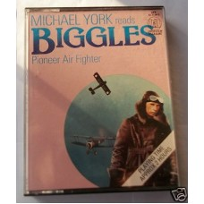 Michael York Reads Biggles Pioneer Air Fighter, W.E. Johns, vg scarce