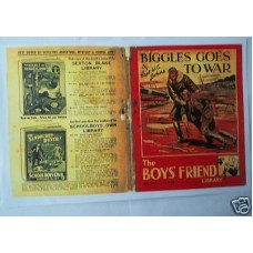 The Boy's Friend Library Biggles Goes To War Colour Replica Cover