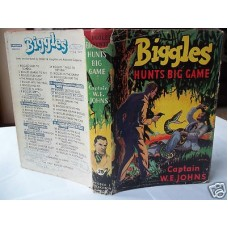 Biggles Hunts Big Game, W.E. Johns, in variant dust wrapper, unusual, 1955