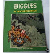 Biggles De Valschermspringers Dutch comic book No 11 1967, W.E. Johns, scarce