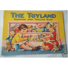 The Toyland Painting and Tracing Book Unused Vintage 1940s, perfect