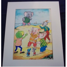Pinky And Perky Original Artwork