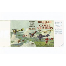 Biggles Of the Camel Squadron printed replica dust wrapper