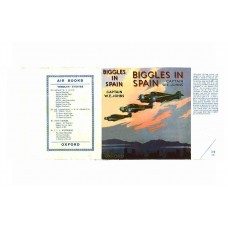 Biggles in Spain printed replica dust wrapper