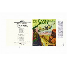 Biggles in the Jungle by W.E. Johns printed replica dust wrapper