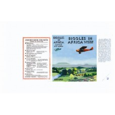 Biggles in Africa by W.E. Johns printed replica dust wrapper