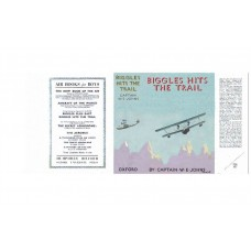Biggles Hits the Trail by W.E. Johns printed replica dust wrapper