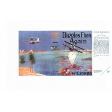 Biggles Flies Again by W.E. Johns printed replica dust wrapper