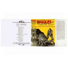 Biggles Charter Pilot by W.E. Johns printed replica dust wrapper
