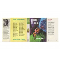 Biggles and the Little Green God by W.E. Johns printed replica dust wrapper