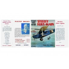 Steeley Flies Again by W.E. Johns printed replica dust wrapper