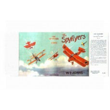 The Spyflyers by W.E. Johns printed replica dust wrapper