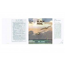 The Black Peril (Biggles) by W.E. Johns printed replica dust wrapper