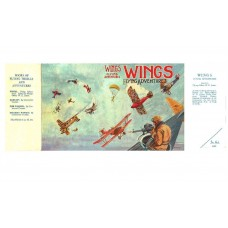 Wings: A Book of Flying Adventures printed replica dust wrapperCover/edited by W.E. Johns